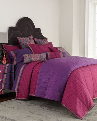 Queen Pleated Coverlet, 90