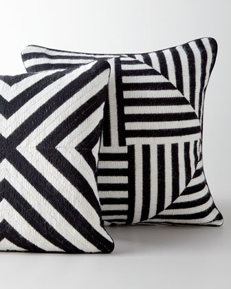 Bargello Windmill Pillow