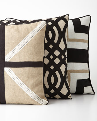 Raven Black/White Cross Pillow