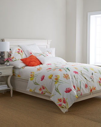 King Floral Sheet Set