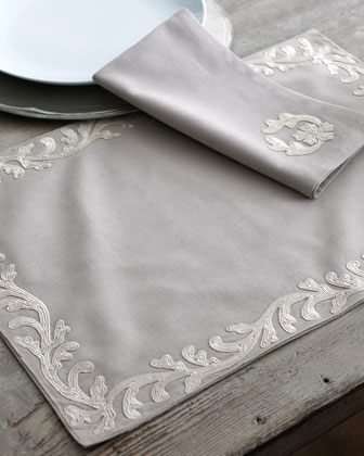 Four Dori Beige Placemats