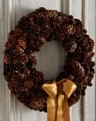 Glittered Pine Cone Wreath