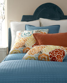 "Ann Gish ""Ready-To-Bed"" Silk Linens & ""Nolita"" Pillows"
