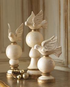 Wooden Dove Finials