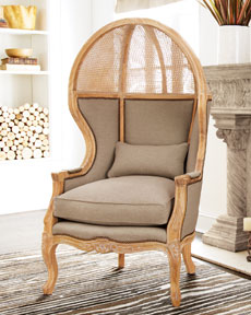 Old Hickory Tannery Cane Balloon Chair