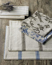 Horchow - French Laundry Home Bird Toile & Ticking-Stripe