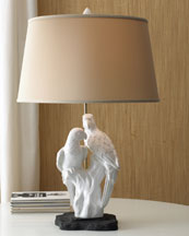 """""""White Parrots"""" Lamp"""