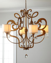 Golden Abstract Chandelier
