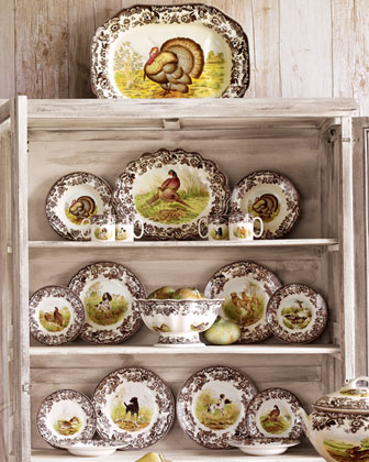 Four Woodland Turkey Dinner Plates
