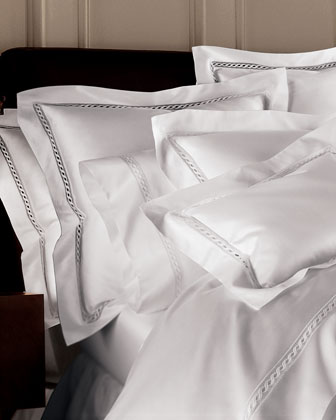 Two Standard Lace Sateen Pillowcases
