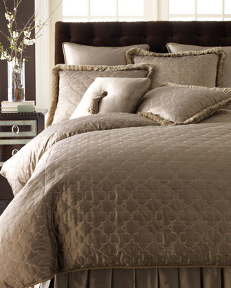 Standard Quilted Sham with Fringe