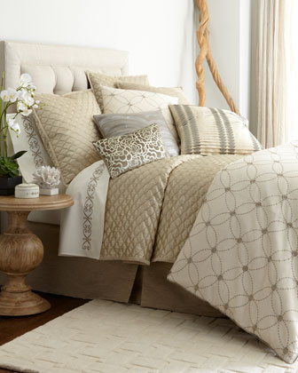 Queen Quilted Coverlet, 90