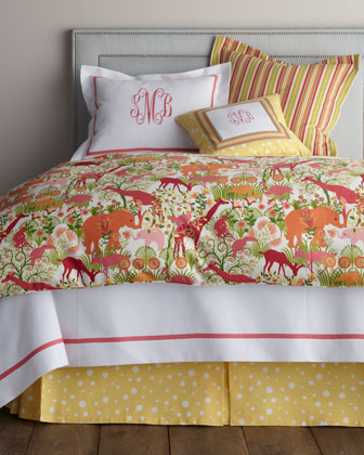 Queen Animal-Print Duvet Cover, 90