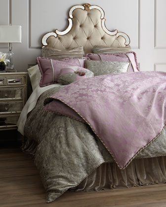 Queen Lavender Damask Duvet Cover, 90