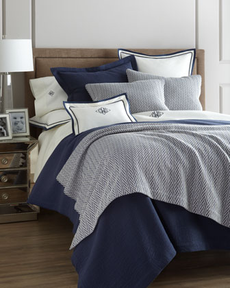 King Herringbone Sham