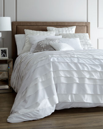 Queen Belgravia White Duvet Set