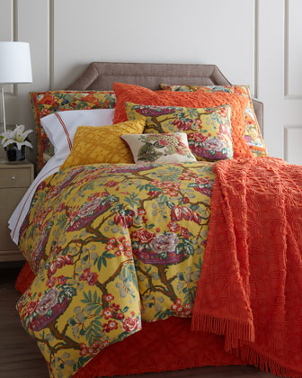 Full/Queen Spring Basket Floral Duvet Cover, 88