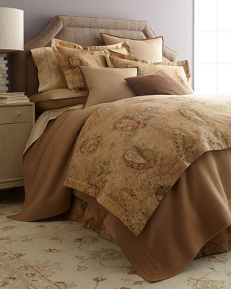 Queen Floral Jacquard Fitted Sheet