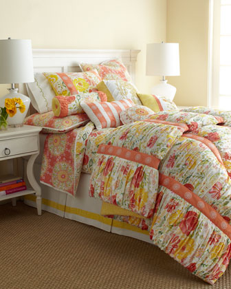 Full/Queen Ruched Meadow Comforter, 92