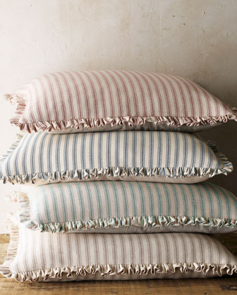 Ticking-Stripe European Sham