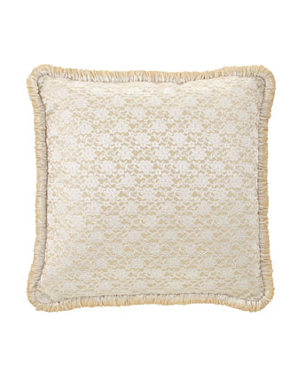 Lace European Sham with Velvet Welt