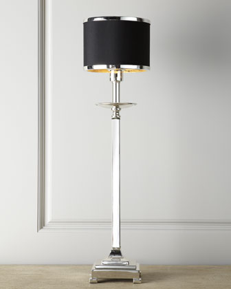 Silver-Plated Buffet Lamp