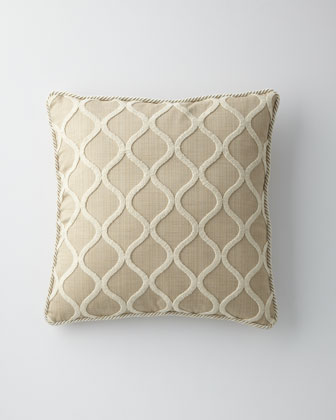 Cream Ogee Pillow, 22