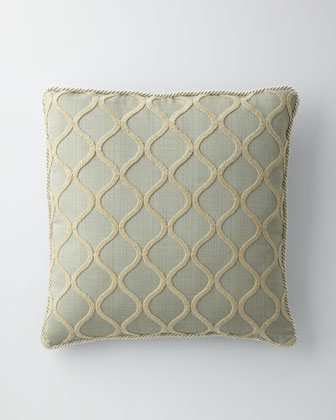 Blue Ogee Pillow, 22