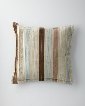 Striped Velvet European Sham
