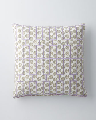 Datta Pillow with Lavender Grid, 20