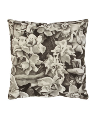 Gardenias Velvet Pillow, 24