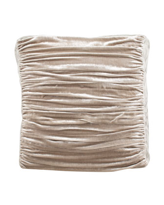 Ruched Velvet European Sham