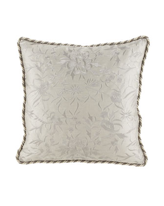 Embroidered Platinum Pillow, 22