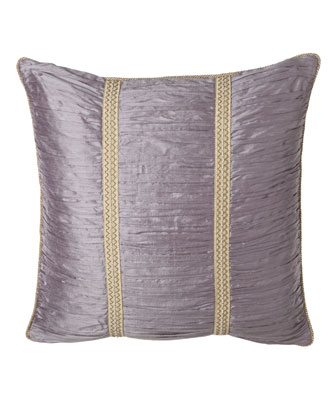 Ruched Silk European Sham